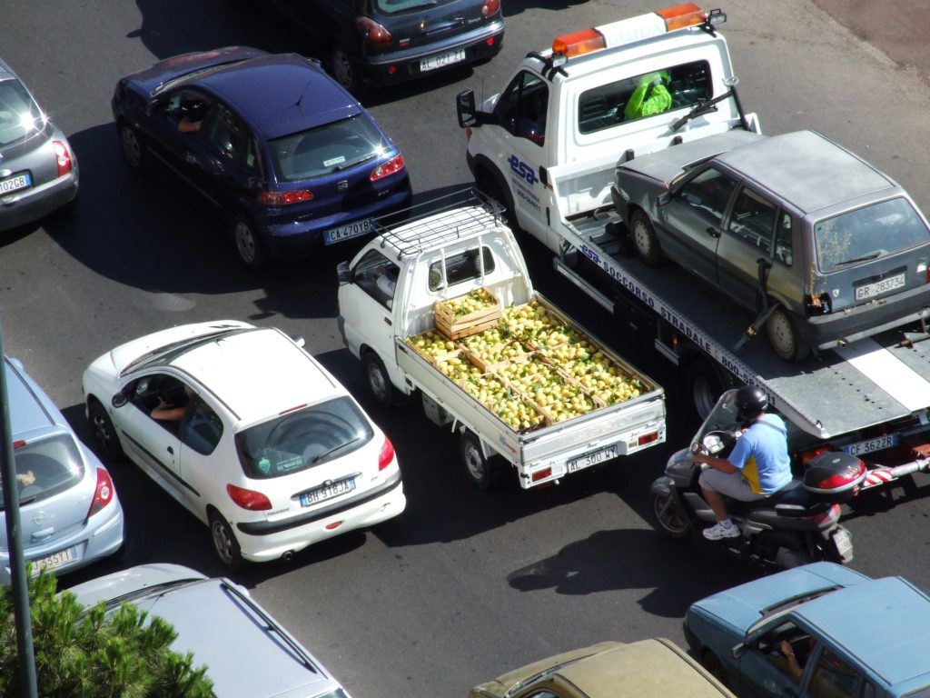 Palermo Sicily traffic