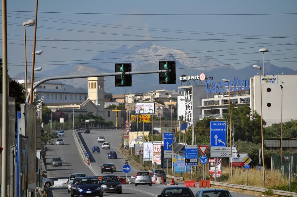 Sicily traffic Milazzo